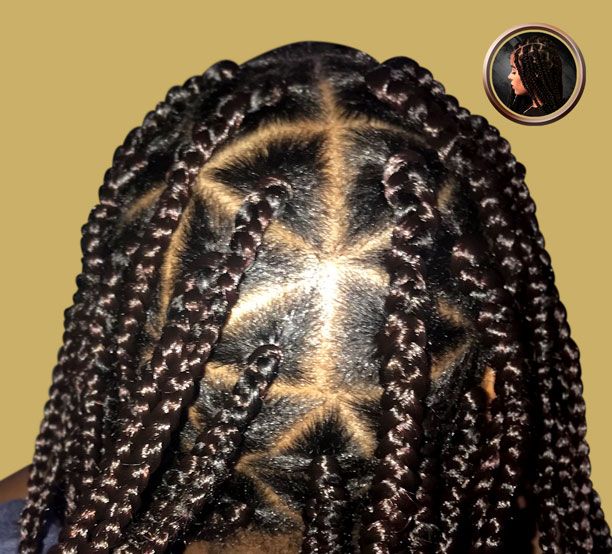 triangle box braids no hair added