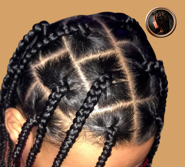 box braids no hair added