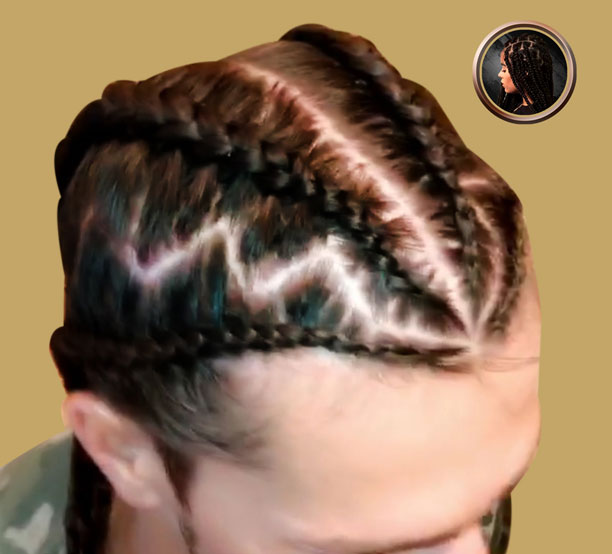 4 braids no hair added